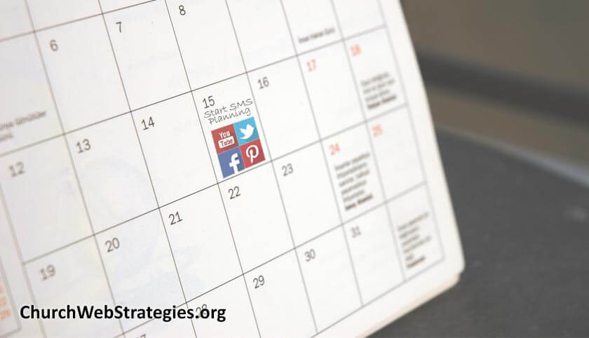 "calendar with ""Start planning SMS"" highlighted"