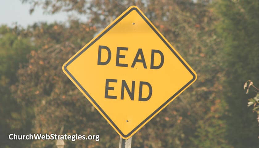 street sign warning of a dead end road