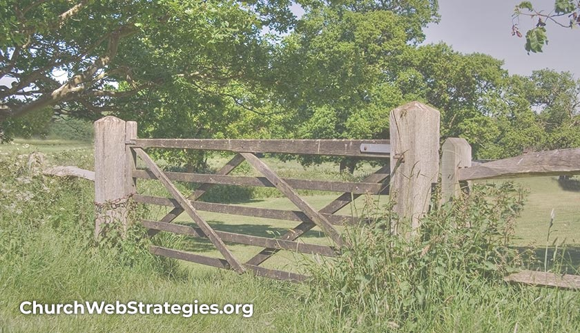 wooden gate in the country