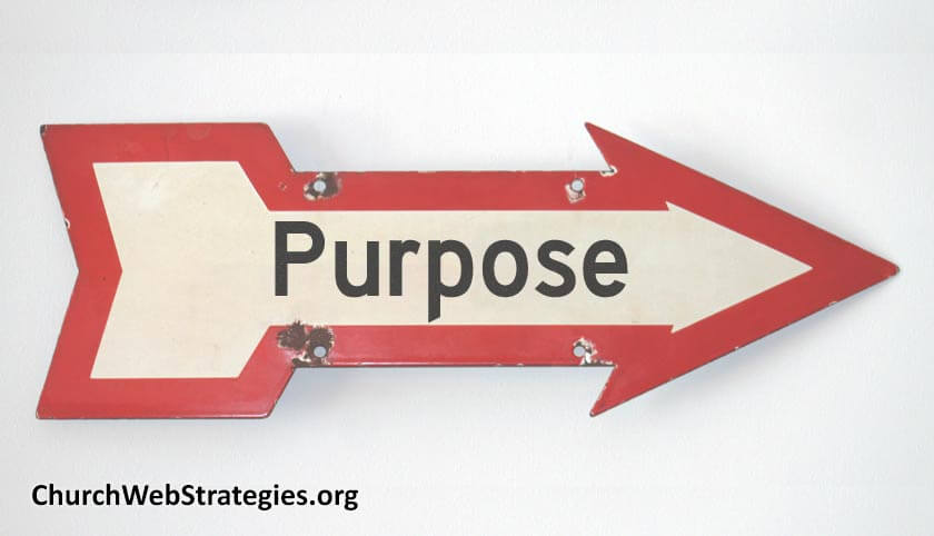 """arrow-shaped sign that says """"Purpose"""""""