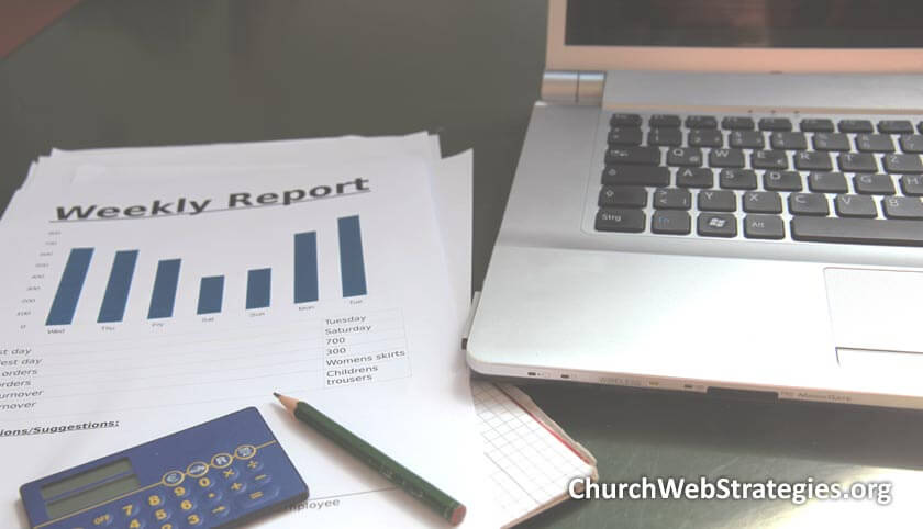 printed report and laptop computer