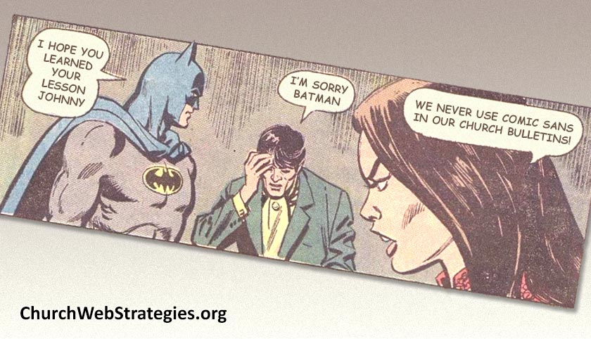 altered Batman comic strip